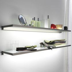 Lighting system 4 Glass shelf | Estanterías de baño | GERA
