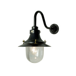 7125 Ship's Small Decklight, Wall Light, Painted Black, Clear Glass | General lighting | Davey Lighting Limited