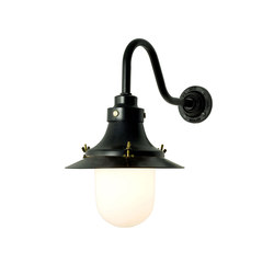 7125 Ship's Small Decklight, Wall Light, Painted Black, Opal Glass | Iluminación general | Davey Lighting Limited