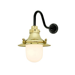 7125 Ship's Small Decklight, Wall Light, Polished Brass, Opal Glass | Iluminación general | Davey Lighting Limited