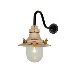 7125 Ship's Small Decklight, Wall Light, Polished Copper, Clear Glass | General lighting | Davey Lighting Limited