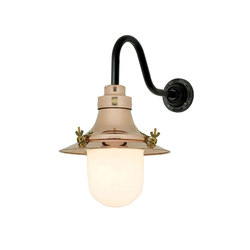 7125 Ship's Small Decklight, Wall Light, Polished Copper, Opal Glass | Allgemeinbeleuchtung | Original BTC