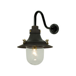 7125 Ship's Small Decklight, Wall Light, Weathered Copper, Clear Glass | General lighting | Davey Lighting Limited
