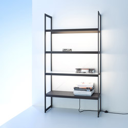 Light shelf 100 | GERA light system 6 | Librerie con illuminazione integrata | GERA