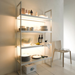 Lighting system 6 Light shelf 100 | Librerie con illuminazione integrata | GERA