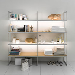 Lighting system 6 Light shelf 200 | Librerie con illuminazione integrata | GERA