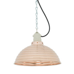 7170 Spun Ripple with Suspension Lampholder, Polished Copper | General lighting | Davey Lighting Limited