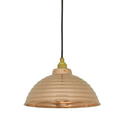 7170 Spun Ripple with Cord Grip Lampholder, Polished Copper | Iluminación general | Davey Lighting Limited