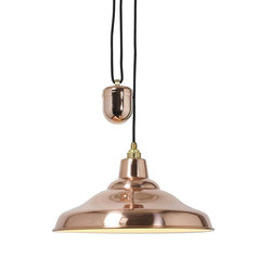 7200 Rise & Fall School Light, Polished Copper | General lighting | Davey Lighting Limited