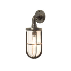 7207 Weatherproof Ship's Well Glass, Weathered Brass, Clear Glass | Iluminación general | Davey Lighting Limited