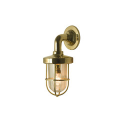 7207 Miniature Weatherproof Ship's Well Glass, Polished Brass, Clear Glass | Iluminación general | Davey Lighting Limited