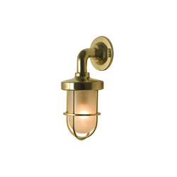 7207 Miniature Weatherproof Ship's Well Glass, Polished Brass, Frosted Glass | Allgemeinbeleuchtung | Davey Lighting Limited