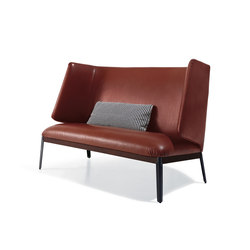 Hug Love Seat - High Backrest Leather Version | Sofas | ARFLEX