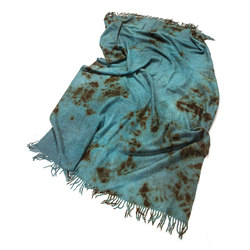 Alpaca Throw Dark Brown | Teal | Plaids / Blankets | Suzusan