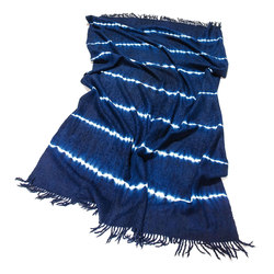 Alpaca Throw Dark Blue / White | Plaids / Blankets | Suzusan