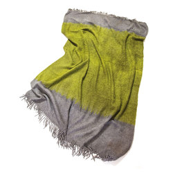 Alpaca Throw Olive | Grey | Plaids / Blankets | Suzusan