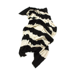 Cashmere - Wool Throw Black | White | Plaids / Blankets | Suzusan