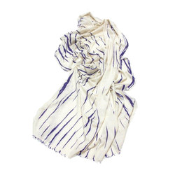 Cashmere - Wool Throw Purple | White | Plaids / Blankets | Suzusan