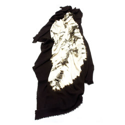 Cashmere - Wool Throw Dark Brown | White | Plaids / Blankets | Suzusan