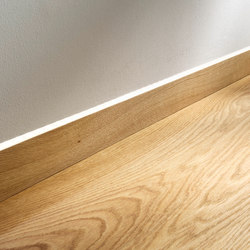 Flush-mount skirting board with LED | Baseboards | Admonter Holzindustrie AG