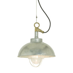 7222 Shipyard Pendant, Galvanised, Clear Glass | Éclairage général | Davey Lighting Limited