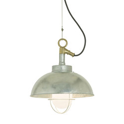 7222 Shipyard Pendant, Galvanised, Frosted Glass | Éclairage général | Davey Lighting Limited