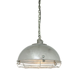 7238 Steel Working Light With Protective Guard, Galvanised | Illuminazione generale | Davey Lighting Limited