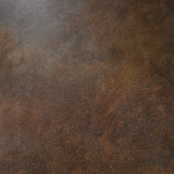 Metal | Corten | Ceramic tiles | Cotto d'Este