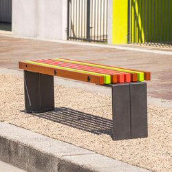 Color backless bench | Benches | Concept Urbain