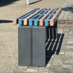 Color backless bench | Exterior benches | Concept Urbain