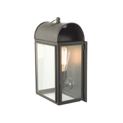 7250 Domed Box Wall Light, Weathered Brass, Clear Glass | Illuminazione generale | Davey Lighting Limited