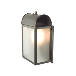 7250 Domed Box Wall Light, Weathered Brass, Frosted Glass | Éclairage général | Davey Lighting Limited