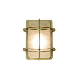 7373 Rectangular Bulkhead Fitting, Natural Brass | Éclairage général | Davey Lighting Limited