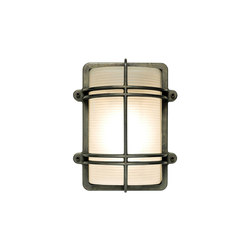 7373 Rectangular Bulkhead Fitting, Weathered Brass | General lighting | Davey Lighting Limited