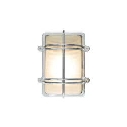 7373 Rectangular Bulkhead Fitting, Chrome Plated | Illuminazione generale | Davey Lighting Limited