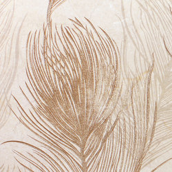 Crema marfil decor burlesque (set of two) | Wall tiles | KERABEN