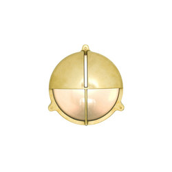 7428 Brass Bulkhead With Eyelid Shield, Natural Brass | Iluminación general | Davey Lighting Limited
