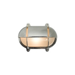 7435 Oval Brass Bulkhead With Eyelid Shield, Medium, Chrome Plated | Éclairage général | Davey Lighting Limited