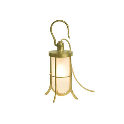 7521 Ship's Hook Light, Frosted Glass, Polished Brass | General lighting | Davey Lighting Limited