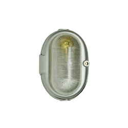 7527 Oval Aluminium Bulkhead Fitting, E27, Painted Grey Hammerite | Illuminazione generale | Davey Lighting Limited