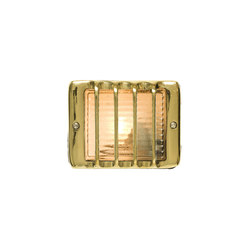 7576 Guarded Step Light, E14, Sandblasted Brass | General lighting | Davey Lighting Limited