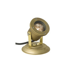 7604 Spotlight for Submerged or Surface use, Brass Plate, Brass | Éclairage général | Davey Lighting Limited