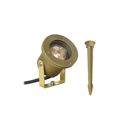 7604 Spotlight for Submerged or Surface use, Ground Spike, Brass | General lighting | Davey Lighting Limited