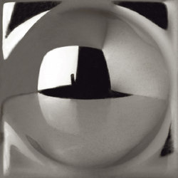 Capitonné platinum rounded inset | Mosaike | Petracer's Ceramics