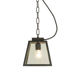 7635 Quad Pendant Light, Small, Weathered Brass, Clear, Closed Top | General lighting | Davey Lighting Limited