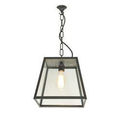 7635 Quad Pendant Light, Closed Top, Medium, Weathered Brass, Clear | General lighting | Davey Lighting Limited