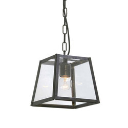 7636 Quad Pendant Internally Glazed, Small, Weathered Brass Clear | Allgemeinbeleuchtung | Davey Lighting Limited