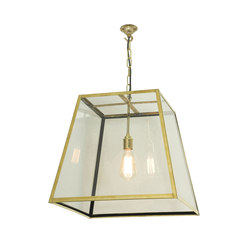 7636 Quad Pendant, Internal Glass, Large, Polished Brass, Clear Glass | Allgemeinbeleuchtung | Davey Lighting Limited