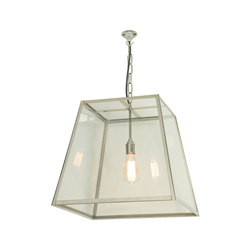 7636 Quad Pendant, Internal Glass, Large, Satin Nickel, Clear Glass | General lighting | Davey Lighting Limited