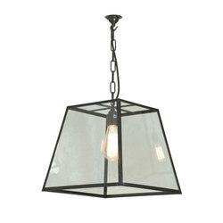 7636 Quad Pendant Light, Internal Glass, Medium, Weathered Brass, Clear Glass | Éclairage général | Davey Lighting Limited